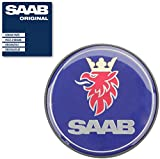SAAB Original Radkappe / Nabenkappe für Alu-Felgen mit schwarzem Rand nach Original-Nr.: 12802437 u.a. passend für die Modelle Saab 9-3 und 9-5