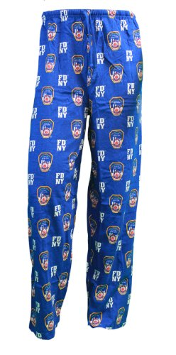 FDNY Lounge Pants Pyjama, Sleep Hose Blau, Blau (Blaue Damen Sleep-pant)
