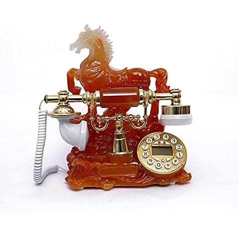 Xie Fashion Retro telefono antico ha corda telefoni continentale pastorale casa telefono fisso (success-red