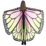 OVERDOSE Cape Ailes Papillon Style Festival, Adulte Enfant Châle Poncho Imperméable Costume (168 * 135CM, 14)