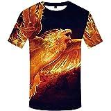 Fire Phoenix t-Shirt Male 3D digital Printing Short Sleeve colour1 XXXXL,3D Printed T Shirts for Men Unisex Tee Shirts Tops Mens T Shirts Print Unisex Short Sleeve Summer Tee Shirt