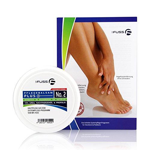 Mr. Fuss Pflegebalsam Plus 100ml Hornhautbalsam Fußbalsam Fußcreme gegen Hornhaut und trockene Haut mit 10% Urea für strapazierte Füße