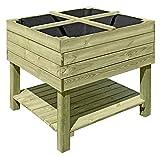 Gartenpirat Hochbeet aus Holz 92x92x80 cm Bausatz Kräuterbeet für Balkon Terrasse