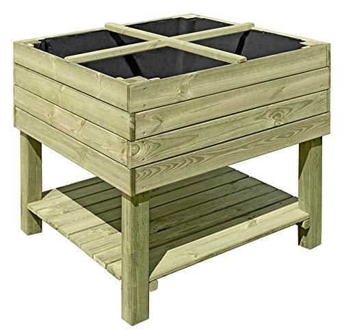Hochbeet Aus Holz 92x92x80 Cm Bausatz Krauterbeet Fur Balkon