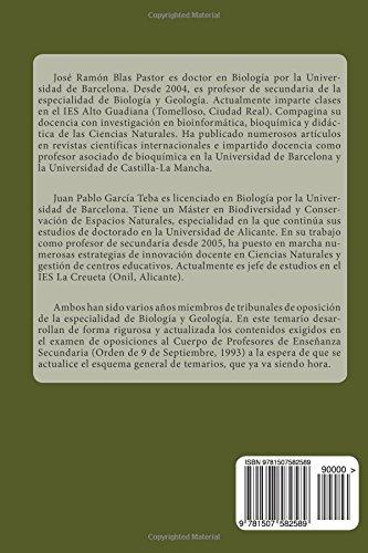 Temario de oposiciones. Biologia y geologia. Temas 23 a 51.: Acceso al Cuerpo de Profesores de Enseñanza Secundaria.