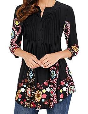 FAMILIZO Camisas Mujer Largas Camisetas Mujer Verano Tops Mujer Primavera Camisetas Mujer Largas Camisetas Mujer...