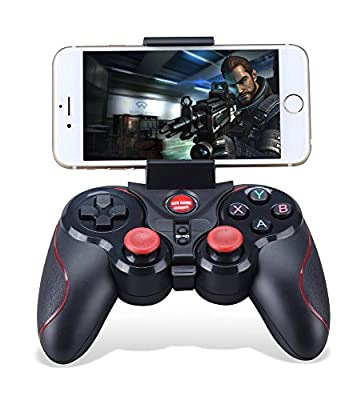 THANLY Portable Bluetooth Gamepad wire wireless Rechargeable Game Controller Support for Smart phone Pad TV \ TV Box with Android Platform 3.2 or Above/ Apple IOS 9.3+