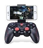 thanly Tragbarer Bluetooth-Gamepad Draht Wireless wiederaufladbar Game Controller Unterstützung für Smart Phone Pad TV  TV-Box mit Android-Plattform 3,2oder vor/Apple iOS 9,3+