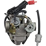 GOOFIT 24mm PD24J Carburateur Carb pour GY6 4 Stroke 125cc 150cc ATV Go Kart Cyclomoteur et Scooter