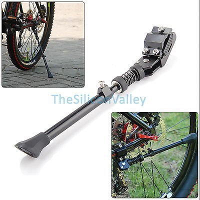 Black MTB Road Bike Side Kickstand Mountain Bicycle Adjustable Alloy Stand New by TheSiliconValley (United Bikes)