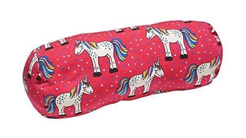 brit-M kids 18KKR078 | Kinder Kuschelrolle Pink Fluffy Unicorn • Kuschelige Sweaty-Nackenrolle für Kinder in bunten Farben | Atelier (Rosa Nackenrolle Kissen)