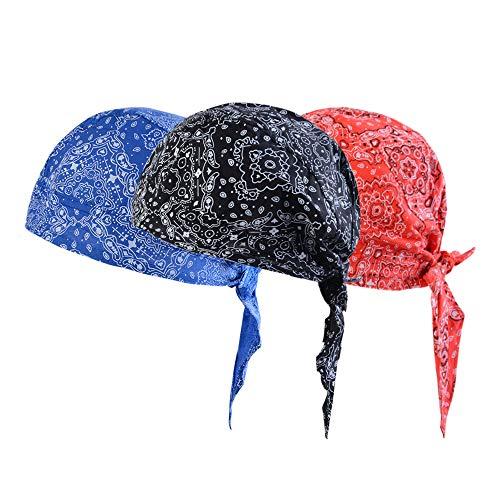 Sfit 3 Stück Headwear Kopftuch Bandana Sonnenschutz Schnell trocknend Bikertuch für Fahrrad Radsport (Floral)