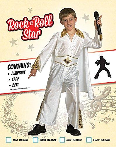 Imagen de disfraz de niño de la estrella de rock elvis. 3 5 años alternativa