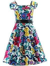H&R London Robe FLORAL LONG 5290 multicolore
