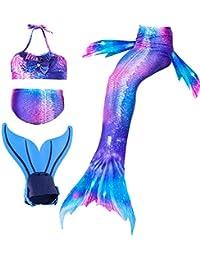 shepretty Ragazze Coda da Sirena Bikini Costumi da Bagno