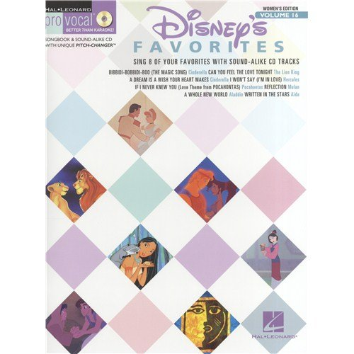 Preisvergleich Produktbild Pro Vocal Women's Edition Volume 16: Disney Favourites. Für Melodielinie, Text & Akkorde