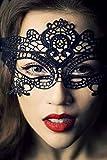 CTYHCG Spitze Venezianischen Maskenspiel Karneval Party Ball Gesicht Augenmaske for Damen (Schwarz 1)