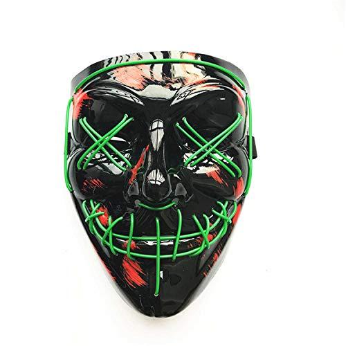 Mann Spiegel Der Kostüm - DQANIU LED Maske, LED Maske Flash Modus Halloween Karneval Karneval Party Kostüm Cosplay Dekoration Event/Party Supplies