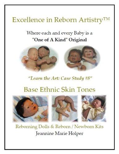 Base Ethnic Skin tones for Vinyl Reborns (Excellence in Reborn Artistry) (English Edition) - Base Vinyl