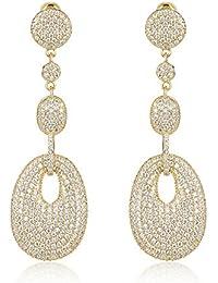 Shaze Copper Dangler Earrings for Women (Golden) (A09804)