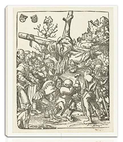 Berkin Arts Lucas Cranach The Elder Gedehnt Giclee Auf Leinwand drucken-Berühmte Gemälde Kunst Poster-Reproduktion Wand Dekoration Fertig zum Aufhängen(Das Martyrium des Apostels Petrus am Kreuz)#NK