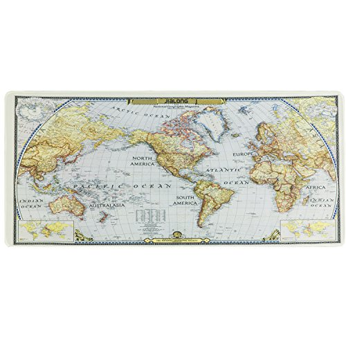 300*700*2mm World Map Pattern Gaming Computer Mouse Keyboard Rubber Mat Pad GL
