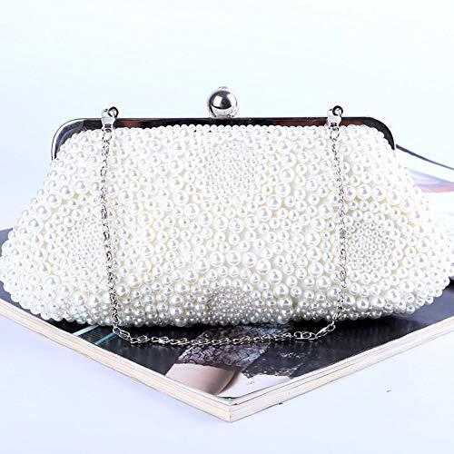 LUSESKY Abendtasche Frauen Brieftasche Perlen Diamanten Haspe Handtasche Kupplungen Mini Party Hochzeit Hobos Geldbörse -