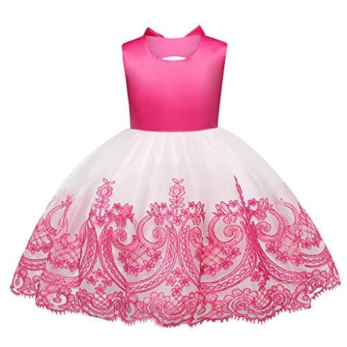 Elegante Kostüm Prinzessin Rosa Kleinkind - Likecrazy Mädchen Prinzessin Kleider,Tutu Kleider für Säugling Baby Mädchen Bowknot-Prinzessin Dress Hochzeit Kleid Formell Abendkleid Partykleid Festliches Babykleidung
