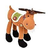 Gaddrt Pädagogische Puppen Kreative Weihnachten Bell Legs Deer Elk Stofftiere Plüsch Spielzeug Puppe (Grün)