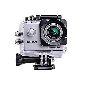 """KEHAN C60 HD 1080P 60fps Mini Wi-Fi Action Camera Impermeabile H.264 16MP Sport Imersione DV Video Videoregistratore 2,0"""" Schermo 170 Gradi Ampio Lenti con Vari Modelli Registrare Time-Lapse/Registrazione Loop / Rallentatore e Vari Accessori Inclusi (Argento)"""