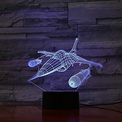 3d led wohnkultur 7 farben ändern hubschrauber modellierung tischlampe usb flugzeug nacht leuchte flugzeug nachtlicht geschenke ## 4