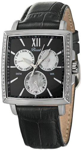 Bossart Watch Co. Square-Glam BW-1101-W-AS-Sle Armbanduhr für Sie Mit Kristallsteinen