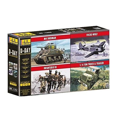 Heller 53008 - Modellbausatz D-Day Exclusive Set 4 Modelle