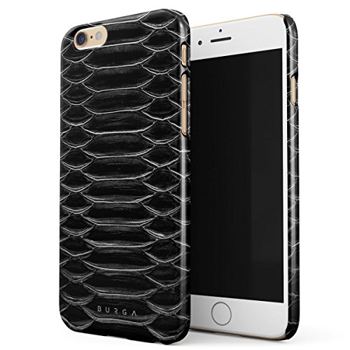 Cover iPhone 6 / 6s , BURGA Verde Pelle Di Serpente Emerald Cobra Savage Green Snake Skin Design Sottile, Guscio Resistente In Plastica Dura, Custodia Protettiva Per iPhone 6 / 6s Case Darkest Path