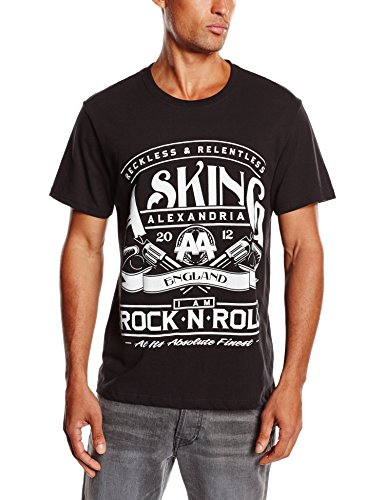 Asking Alexandria Herren T-Shirt Rocknroll Schwarz (Black)