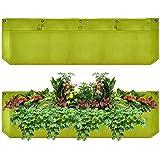 Grande 1bolsillo vertical Garden Planter, impermeables de jardín Macetas para su uso en interiores y exteriores, verde