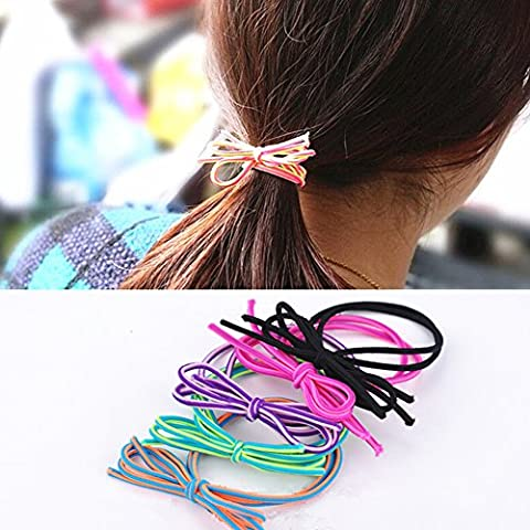 EQLEF® 20 PCS bowknot surtido colores cuerda de pelo para la niña o las mujeres
