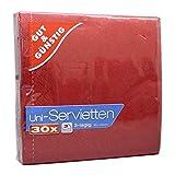 G&G Uni Servietten 3-lagig Rot 30er Pack