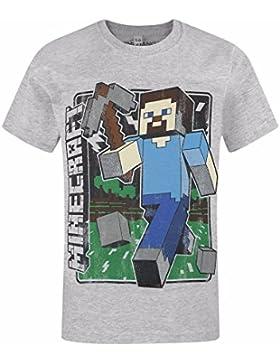 Minecraft Camiseta de Manga Corta Oficial Modelo Vintage para Niños