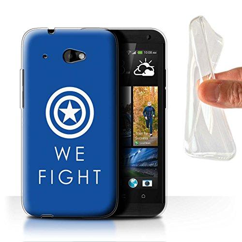 601 Desire Htc Telefon-abdeckungen Für (Stuff4 Gel TPU Hülle / Case für HTC Desire 601 LTE / We Fight / Civil War Muster / Infinity War Inspiriert Kollektion)
