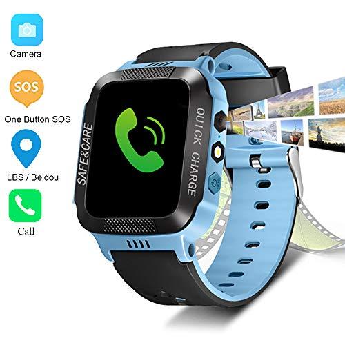 WANGLAI Reloj Inteligente para niños LBS/Rastreador de posicionamiento Beidou - Linterna Infantil...