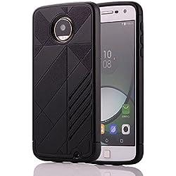 Skitic Coque de Protection pour Motorola Moto Z Play, Premium de 2 en 1 Hybrid Antichoc Housse Etui La arrière PC + Bumper en TPU Double de Protective Back Rigide Case - Noir