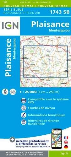 1743SB PLAISANCE/MONTESQUIOU par IGN