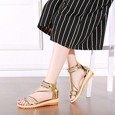 LvYuan sandali primavera estate delle donne altro vestito pu Gold