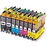 8 AfiD Druckerpatronen zu Brother LC-223 für DCP-J 4120 DW DCP-J 562 DW MFC-J 1100 Series MFC-J 1140 W MFC-J 1150 DW MFC-J 1170 DW MFC-J 1180 DWT MFC-J 4420 DW MFC-J 4425 DW