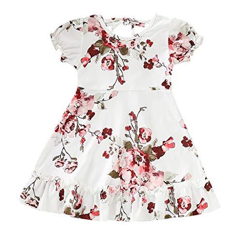 Minecraft Ein Kostüm Machen - Obestseller Kleider für Mädchen Kleinkind Baby Kinder Sommer Blumendruck Print Kleid Prinzessin Kleid Mädchen Geraffte Rüschen Blumen Blumen Prinzessin Kleider Kleidung
