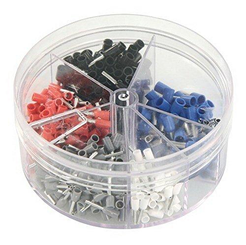 Preisvergleich Produktbild Aderendhülsen-Streudose,  isoliert 0, 5 - 2, 5 mm²,  400Stück