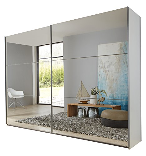 Wimex 974806 Schwebetürenschrank, 270 x 210 x 65 cm, korpus alpinweiß / front spiegel