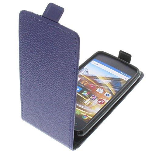 foto-kontor Tasche für Archos 40 Neon Smartphone Flipstyle Schutz Hülle blau