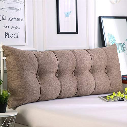 Tagesbett-bett-tasche (HAOLY Baumwolle und leinen rechteckig Bett Kopf Kissen,Große dreieckige Sofa rückenlehne,Weiche Tasche Tatami Bett Kissen,Abnehmbaren rückenpolster-M 60x20x60cm(24x8x24inch))